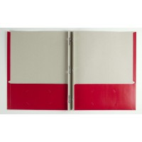Folder: 2 Pocket with Fasteners, Assorted Colors (*Carton of 50 Folders)