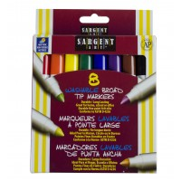 Markers: 8 Count Box, Washable, Wide (*Carton of 24 Boxes)
