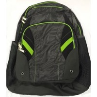 Backpack: High School Style, Gray/Neon