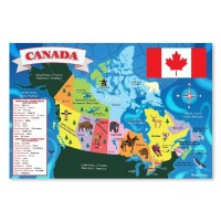 Melissa & Doug Canada Map Floor Puzzle (48 Pieces)