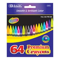 Crayons, 64 Count (*Carton of 48 Packs)