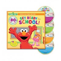 Sesame Street Sing-Along Book Get Ready for School! (4 CD Set)