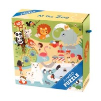 Jumbo Puzzles: At the Zoo