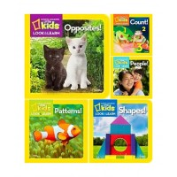 National Geographic Look & Learn Collection (24 Board Books)