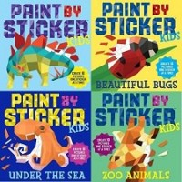 Reusable Paint by Sticker Collection (30 Sticker Books)