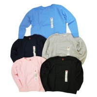 Sweatshirt: Girls, Assorted Sizes, Fleece Crewneck, Assorted Colors (*Carton of 24 Shirts)