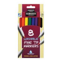 Markers: 8 Count Box, Thin Tip (*Carton of 24 Boxes)