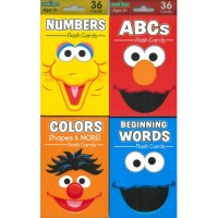 Sesame Street Big Face 36-Count Flash Card Assortment (*Carton of 22 Packs)