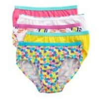 Underwear: Girls, Size 10, Briefs, Assorted Colors (Pack of 5 Briefs)