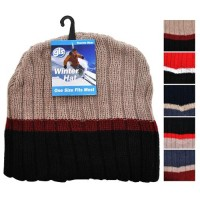 Winter Cap: Knit, Assorted Colors (*Carton of 24 Hats)