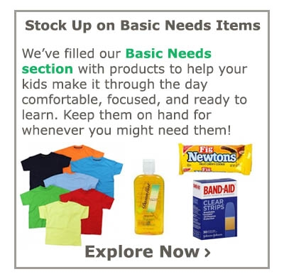 Stock Up on Basic Needs Items